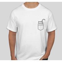 Kaos Gambar Unik Meow Kucing Saku [Eksklusif Sayang Pet Limited]