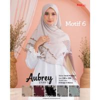 Hijab jilbab segi empat jumbo motif aubrey syari D6