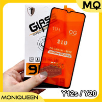 Tempered Glass Vivo Y12s Y20 Full Layar Lem Cover 5D 9D 11D Anti Gores