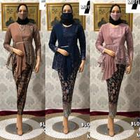 FREE MASKER!! Setelan Kebaya Tulle Modern Bordir Amalia Rok Batik