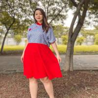 Cheongsam Dress Wanita Big Size Jumbo Baju Imlek Lunar CNY Shirt 1828