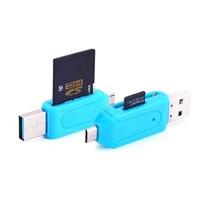 COD MAKASSAR USB OTG + card Reader Mini 2in1 2 slot Micro SD Toko Tamz