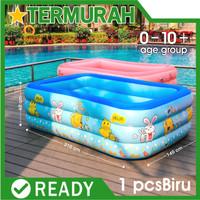 kolam renang anak jumbo kotak biru bestway besar intex 210cm keluarga - biru 210 cm
