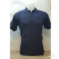 Polo Shirt kaos kerah Polos Lacost navy atau biru dongker