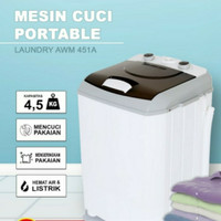 Mesin Cuci Mini Portable ARASHI AWM 451A - 4.5 Kg - Mesin Cuci Kecil