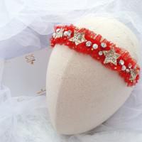 S2S Shimmery Star - Bandana bayi tile headband imlek mewah baby