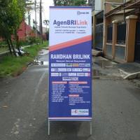 Standing Banner Besi Ukuran 160x60 cm Tebal Besi 2 cm