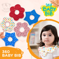 360 ROUND bibs / bib slabber / slaber bayi / celemek bayi melingkar - Random