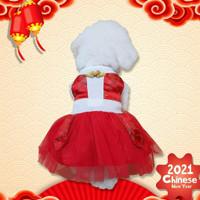 Cheongsam Dress Dragon Baju Imlek Anjing Kucing