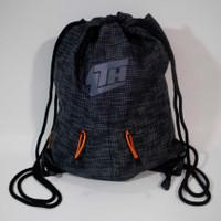 Tas Serut/Drawstring Backpack Wutdaheck V2 Dengan Puring - Hitam