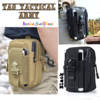 Tas Pinggang Tactical Army Pria Dompet Kanvas Pouch HP Travel Outdoor