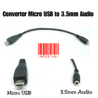 Adapter Micro USB to 3.5mm Audio Aux Jack Cable Converter