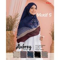 Hijab jilbab segi empat jumbo motif aubrey syar'i (jumbo) D5