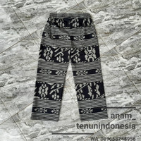 celana kulot wanita bawahan batik ethnic tenun blanket AT001