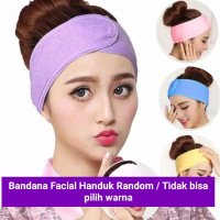 Facial Headband Bando Mandi / Bandana Mandi Headband warna RANDOM - RANDOM