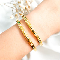 Gelang Bangle Brand elegan dan stylish minimalis best seller emas asli