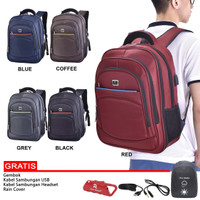 Polo Trands Backpack Expandable With USB Port Tas Ransel 36101