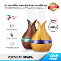 Humidifier Diffuser Ultrasonic Pelembab Udara Aroma Therapy Motif Kayu