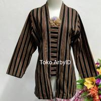 Kebaya lurik wanita khas Jawa / baju kebaya wanita/ pakaian adat Jawa - Kebaya, S