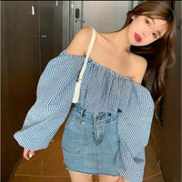 ONNIEFASHION Korean Off Shoulder Blouse / Sabrina Blouse 1167 Atasan