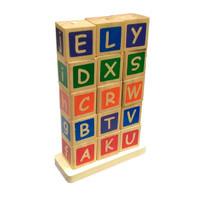 Balok Susun Huruf Alphabet & Hijaiyah Balok Kayu Mainan Edukasi Anak - Hijaiyah