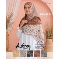 Hijab jilbab kerudung segi empat jumbo motif aubrey syari D4