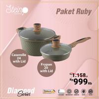 Stein Cookware Paket Ruby Peralatan Masak Dapur Panci Murah
