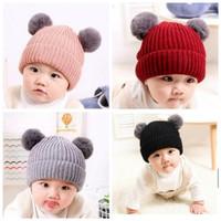 topi bayi anak laki perempuan pom pom lucu