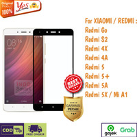 Tempered Glass Redmi Go S2 4X 5A 5+ Anti Gores Kaca Full Lem 5D/9D