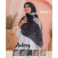Hijab jilbab kerudung segi empat jumbo motif aubrey syari D3
