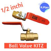 Ball Valve 1/2 inchi kuningan KITZ setengah inchi Stop kran 1/2 inchi