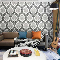 WALLPAPWER STIKER DINDING MOTIF BATIK PREMIUMGOLD MIX BLACK NEW PRODUK