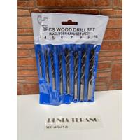 Mata Bor Kayu TEROMPET Set 8 Pcs - Wood Drill Bit Set 8Pcs TRUMPET 3mm