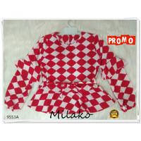 Baju Atasan Anak Perempuan Umur 9-10-11 tahun - Merah, 9 tahun