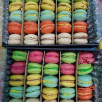 Macaron Cookies 3cm - Baby Macaroon isi 25pcs Mix All Color FreeBubble