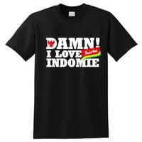 Kaos Baju Combed 30S Distro DAMN i LOVE iNDOMiE polos custom indonesia