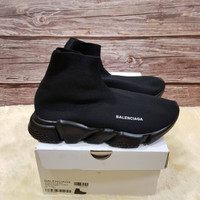 Sepatu Balenciaga Top Speed Trainer Full Black Slip On