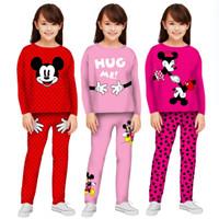 Setelan Baju Tidur Celana Panjang Anak Perempuan Umur 6-12 Tahun