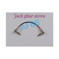 Kabel jumper efek gitar 20cm jack stereo model pipih