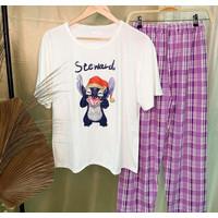 Baju tidur cewek / wanita piyama pajamas import murah Lilo & Stitch