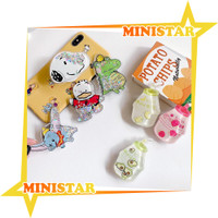 MINISTAR R185 Popsocket Glitter Liquid Karakter Bubble Tea Pop Socket