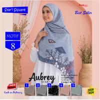 Jilbab Segi Empat Aubrey Jumbo Syari French Motif 8 by Azzura Scarf