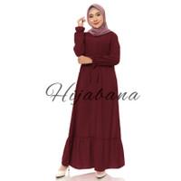 Dress Wanita Muslim Jasmine XL - Dress Jumbo - Dress Muslimah