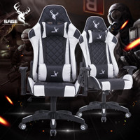 SAGE Gaming Chair Kursi gamer bangku game 180 derajat - SG-616 WHITE