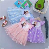 Dress anak perempuan import frozen elsa/rok tutu Elsa/baju Elsa tutu/