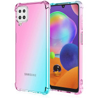 Shock Gradient Case Samsung Galaxy A12 - Rainbow Clear Cover Anticrack