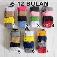Legging Bayi Cotton Rich Tights Polos / Legging Baby Carter isi 4 in 1