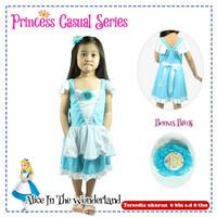 DRESS CASUAL PRINCESS KARAKTER BAYI ANAK Frozen Mulan Jasmine dll - Alice, XS