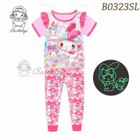Baju Tidur Anak Perempuan Melody Glow In The Dark Import PJMS453