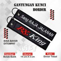 Keychain Keytags Gantungan Kunci Bordir Motor RX KING Premium